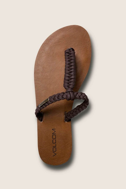 [VOLCOM] WOMEN's FISHTAIL SANDALS - Brown