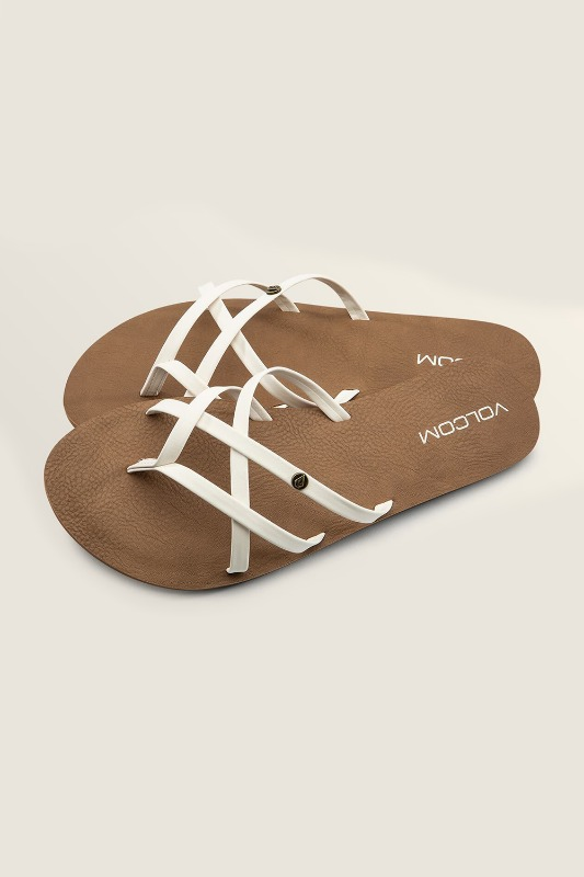 [VOLCOM] WOMEN's NEW SCHOOL SANDALS - White
