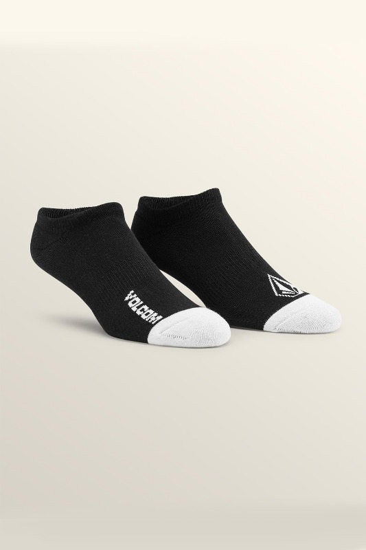 [VOLCOM] Men's STONE ANKLE SOCK 3PACK  - Black
