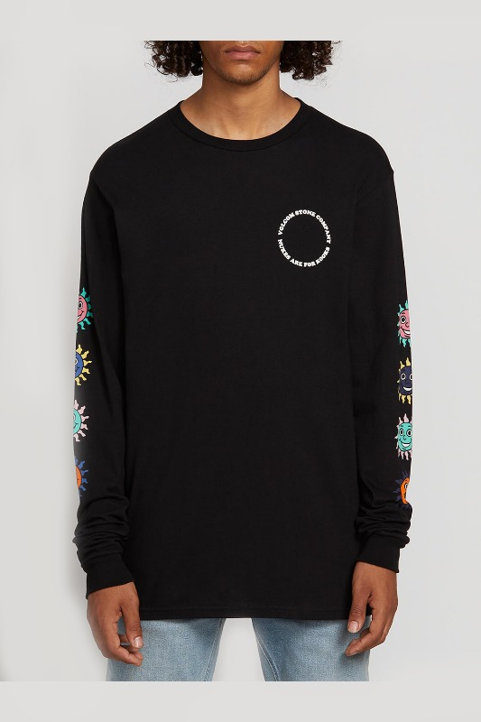 [VOLCOM] Men's KOOK GANG L/S TEE  - Black