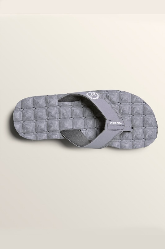 [VOLCOM] Men's RECLINER SANDALS - Light Grey