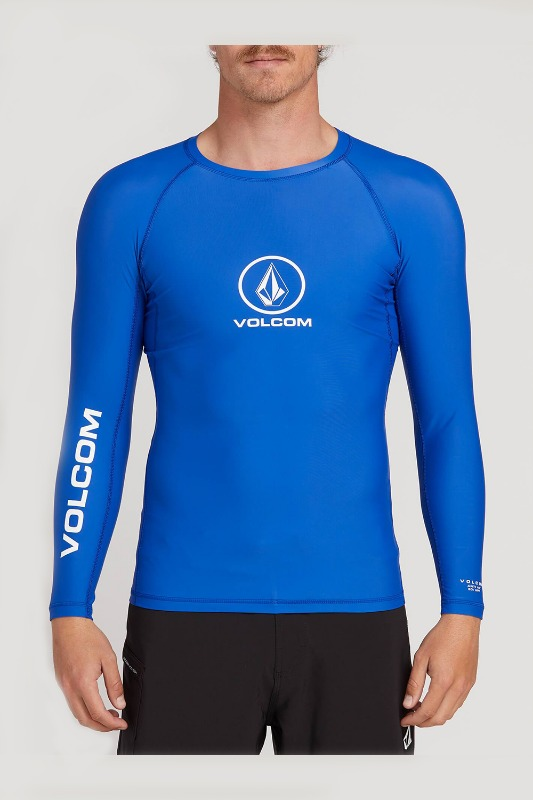 [VOLCOM] Men's LIDO SOLID L/S RASHGURAD - Royal
