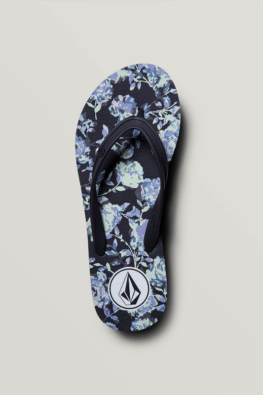 [VOLCOM] WOMEN's ROCKING 3 SANDALS - Black Combo