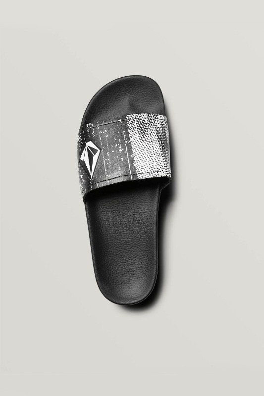 [VOLCOM] Men's DONT TRIP MENS SLIDE - Black White