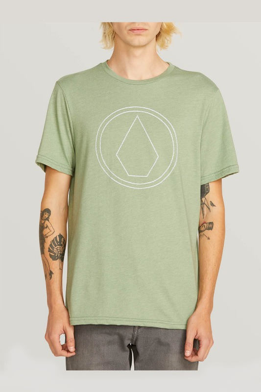 [VOLCOM] Men's PIN STONE S/S TEE- Dusty Green