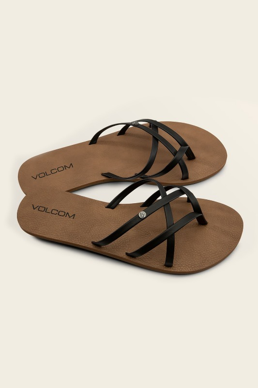 [VOLCOM] WOMEN's NEW SCHOOL SANDALS - Black