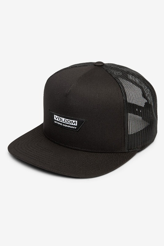 [VOLCOM] Men's TRAPEZOID CHEESE HAT- Black