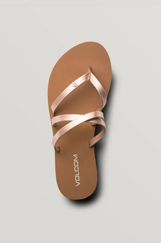 [VOLCOM] WOMEN's EASY BREEZY SANDALS - Rose Gold