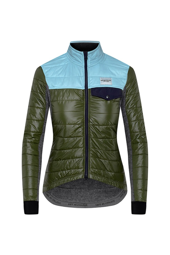 Women's Albertine Down Padded Jacket Green-Aqua 알버틴 다운 패드 자켓 그린아쿠아