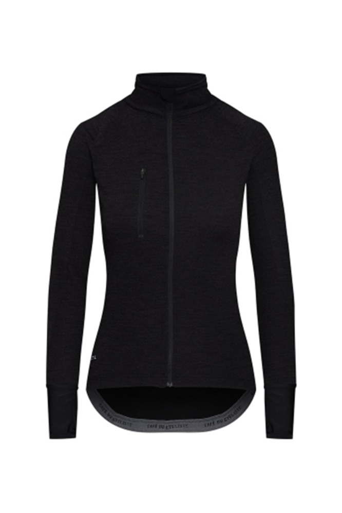 Women's Yolande Signature Long Sleeve Jersey - Black 욜란데 시그니쳐 롱슬리브 져지 블랙